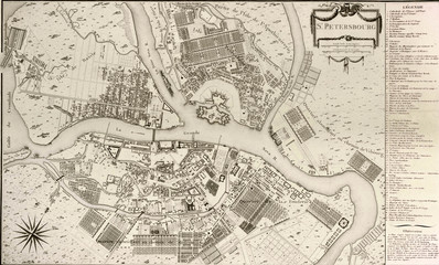Petersburg vintage map