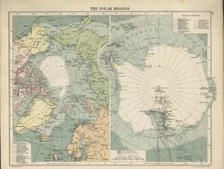 Antarctica vintage map