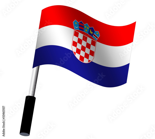 flagge kroatien wehend stockfotos und lizenzfreie bilder. Black Bedroom Furniture Sets. Home Design Ideas
