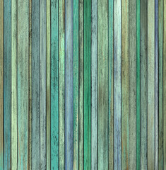 abstract grunge 3d render blue green wood timber plank backdrop
