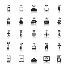 Hotspot Icons Wireless vector