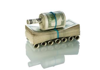 Tank made of money