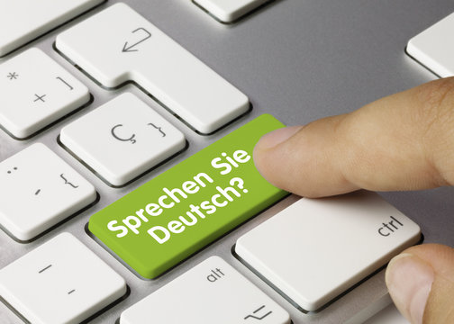 Sprechen sie deutsch? Tastatur Finger