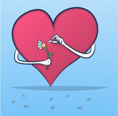 She Loves Me, Not/Cartoon Heart Plucking Daisy Petals