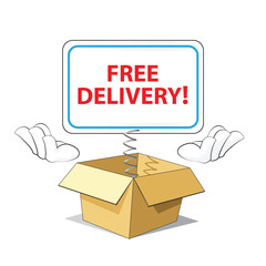 Cartoon Free Delivery Icon