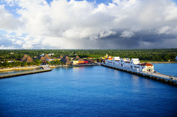 Port at Cozumel, Mexico