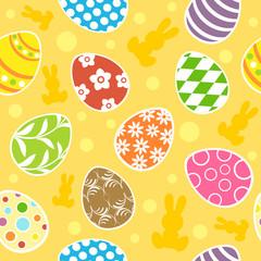 Easter seamless background vector illustration