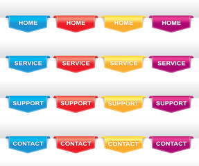 Color set of navigation labels for your design