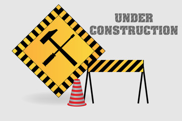 Under construction vector illustration background