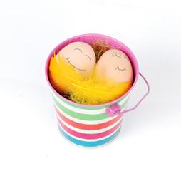 jajka w wiaderku