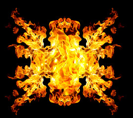 Blazing fire shape