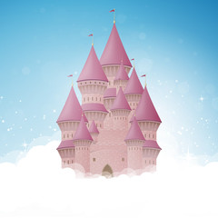 Vector Illustration of a Cartoon Castle