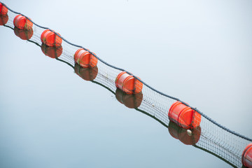 Red buoys