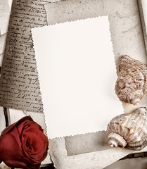 empty photo frame in vintage style