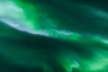 Northern lights from above in space