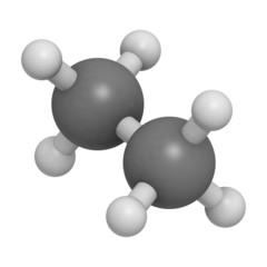 ethane natural gas component, molecular model