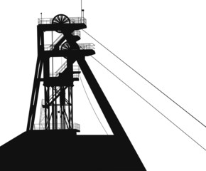 a tower for coal mining vector