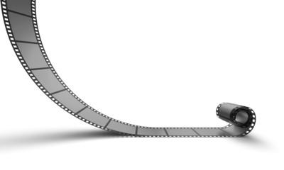 3D Cinema Concept - Silber Filmrolle 1