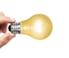 light bulb on a hand