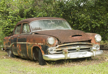Old Rusted Junk Car