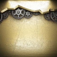 gear wheels on gold