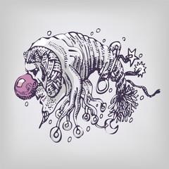 Zeichnung 10 Wollkopf