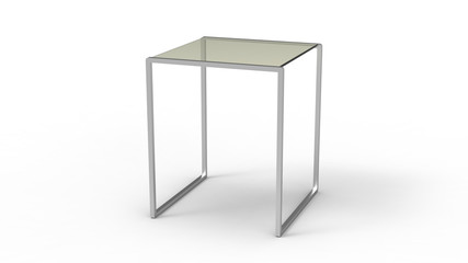 Metal Glass Side Table