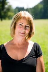 Senior woman outdoor portrait