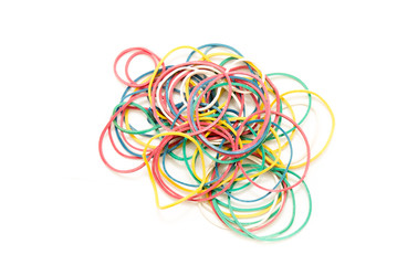 Pile of circulate elastic bands