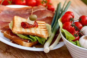 Sandwich with prosciutto - ham