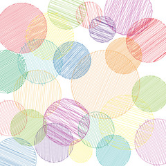 Vector pancil drawn circles background