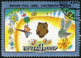 USSR - 1988: shows Winnie-the-Pooh, 1969