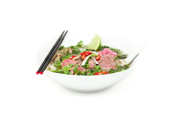 Pho bo, vietnamesische Reisbandnudeln