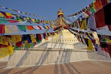 Boudhanath buddhist stupa in Kathmandu capital of Nepal