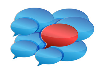 speech bubbles communication and discussion