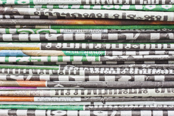 The stack of newspaper