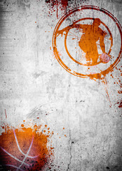 Basketball and streetball poster or flyer background