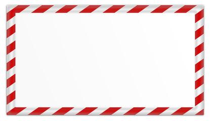 Warnschild rote Streifen