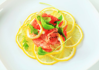 Lemon and beef Carpaccio