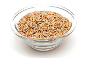 sesame in a glass bowl