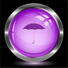 Umbrella. Internet button. Vector illustration.
