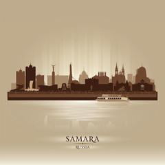 Samara Russia skyline city silhouette