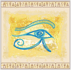 eye of horus - vintage background