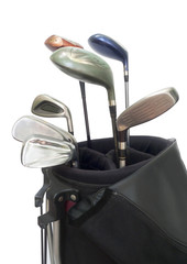 Golf Equipments  in bag.