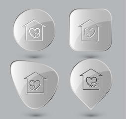 Orphanage. Glass buttons. Vector illustration.