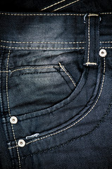 Black jeans fabric with pocket background