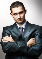 Young handsome man wearing  suit