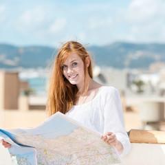 au-pair mit landkarte