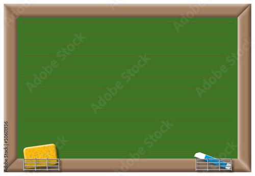 Schultafel mit kreide und schwamm  Tafel, Information, Nachricht, Kreide, Schwamm,