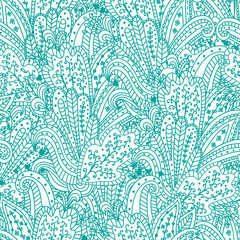 Seamless abstract pattern in indian style